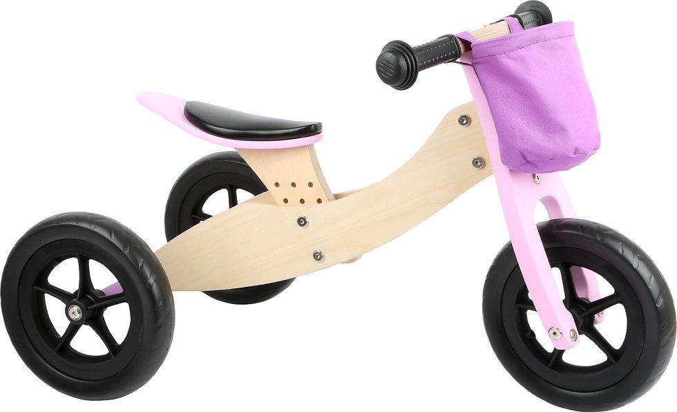 Ξύλινο  Εκπαιδευτικό Ποδήλατο Τρίκυκλο Maxi 2 σε 1 Κωδ:L11611