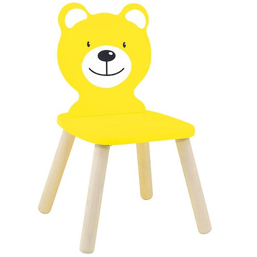 Καρέκλα Αρκουδάκι παιδική  Κίτρινη  κωδ.WT8478