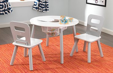 kidkraft Round Storage Table and Chair Set Κωδ.26166