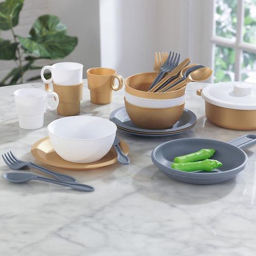 27-Piece Cookware Set - Modern Metallics Κωδ.53532