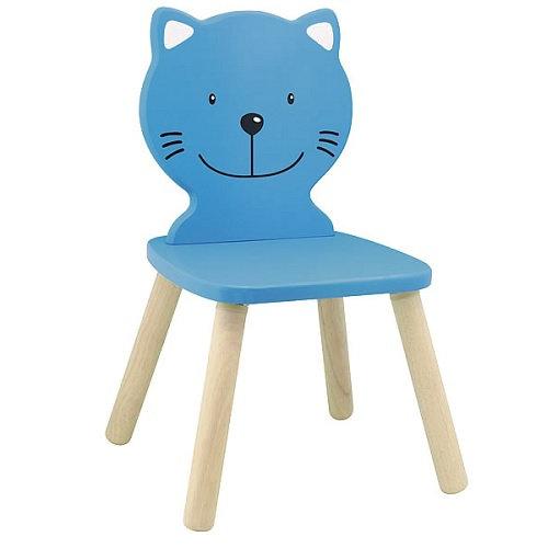 Καρέκλα παιδική Γάτα γαλάζια  κωδ.T47185