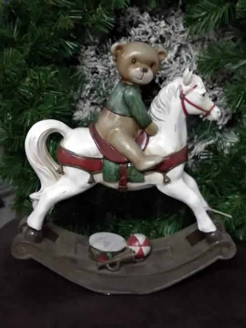 Κουνιστό άλογο με αρκουδάκι κωδ.L684