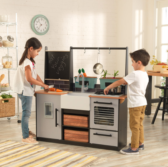Farm to Table Play Kitchen with EZ Kraft Assembly™ Κωδ.53411, παιδικες κουζινες,παιχνίδια,κουζίνα kidkraft