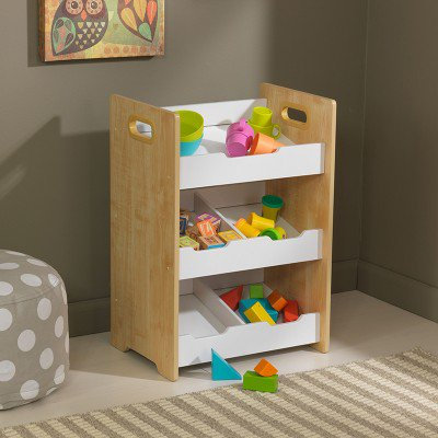 kidkraft Angled Toy Bin Unit - Natural With White Shelves Κωδ.15766