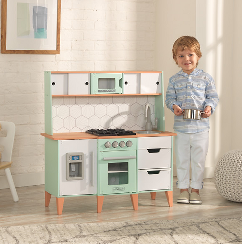 Mid-Century Modern Play Kitchen with EZ Kraft Assembly™ Κωδ.53432