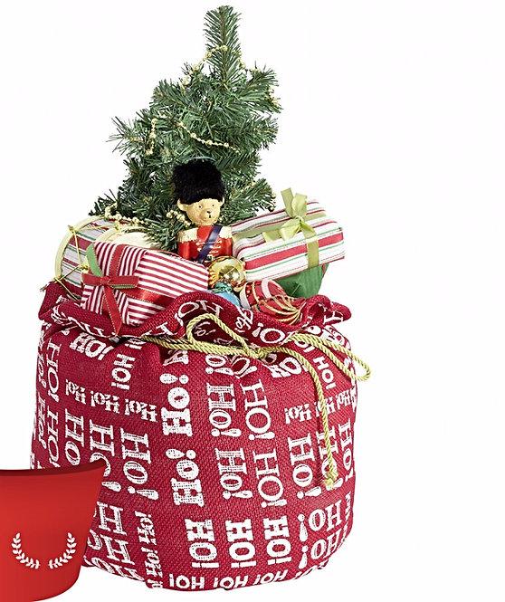 Χριστουγεννιάτικος σάκος με φώς ,μουσική  1τεμ.50εκατ.κωδ