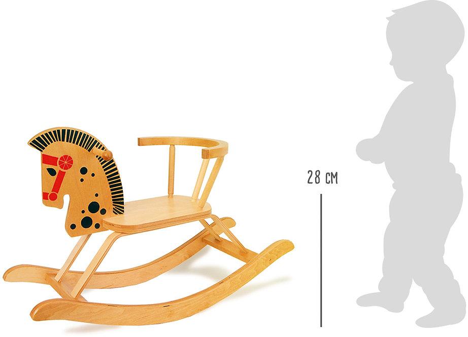 Κουνιστό ξύλινο αλογάκι  κωδ:L9402