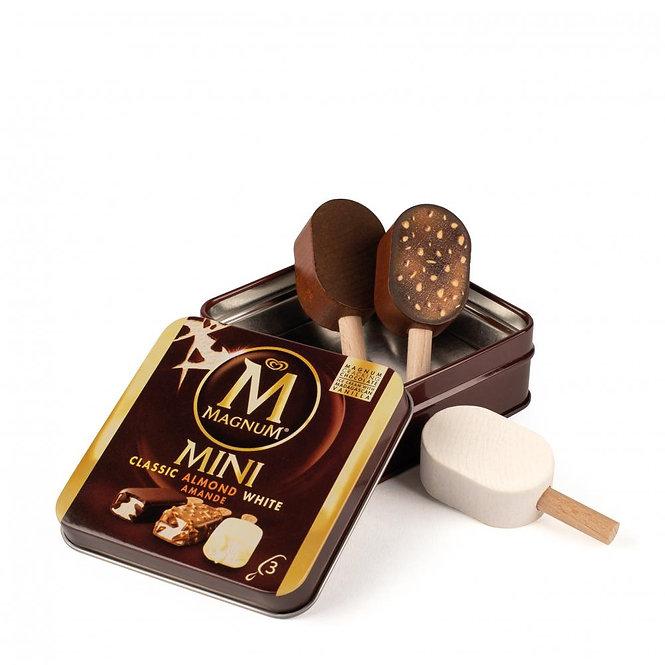 3 μίνι παγωτά Magnum σε μεταλλικό κουτί κωδ.14020