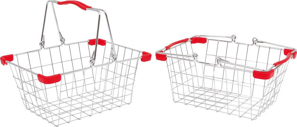 Είδη Σούπερ Μάρκετ για Ψώνια μεταλλικά καλάθια αγορών 2τεμ. κωδ.L82692