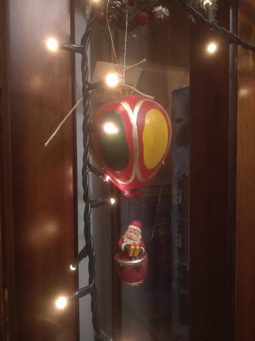 Κρεμαστό χριστουγεννιάτικο αερόστατο με τον Άγιο Βασίλη κωδ:L001