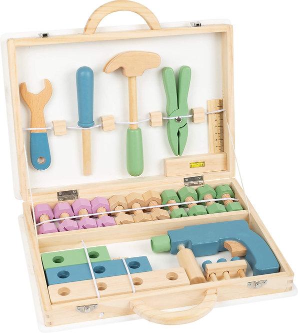 Εργαλειοθήκη για Ξυλουργείο , μασίφ ξύλο με πραγματικά εργαλεία Κωδ.L11505