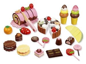 Σετ γλυκισμάτων κοπής, τούρτες και παγωτά  κωδ.W4854