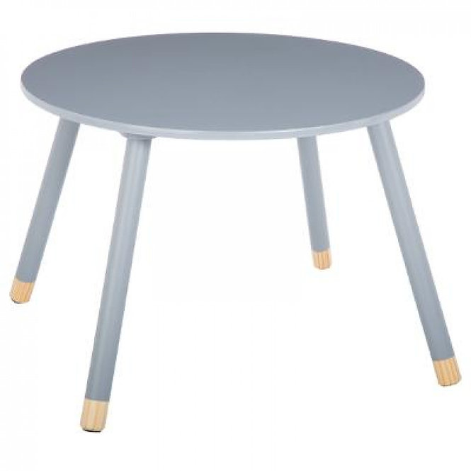 """Παιδικό Ξύλινο στρόγγυλο τραπέζι """"Γκρί"""" κωδ.J1271523"""