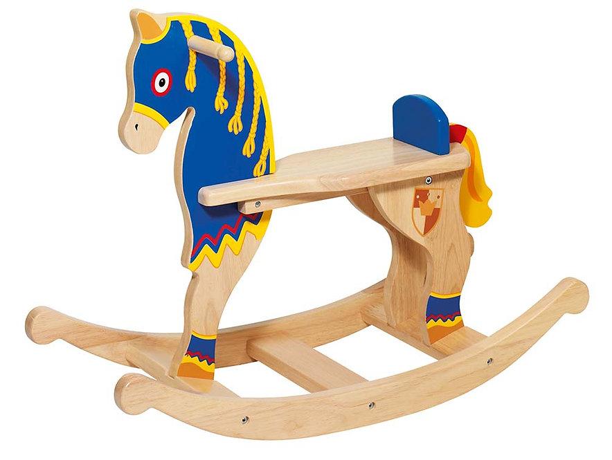 Κουνιστό ξύλινο αλογάκι ιππότης κωδ:P302