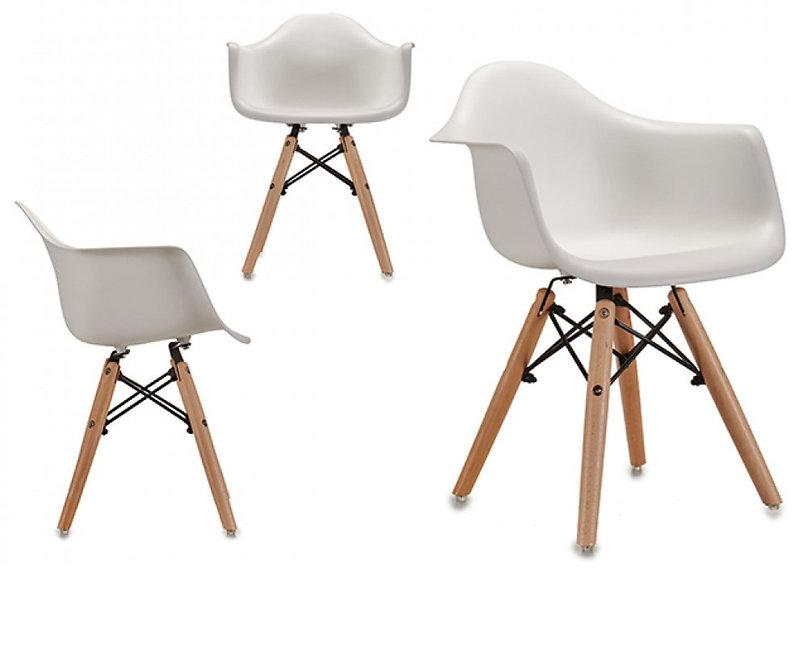 Παιδική Ξύλινη Λευκή καρέκλα κωδ.A57945