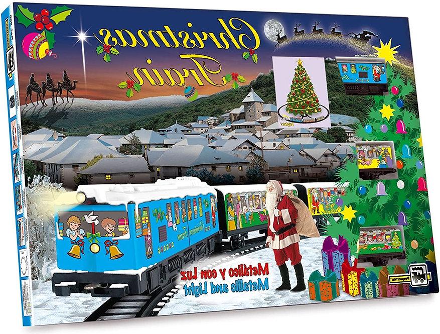 Αγ.Βασίλη  Χριστουγεννιάτικο τρένο μεταλλικό με φως κωδ.ΑP2008E
