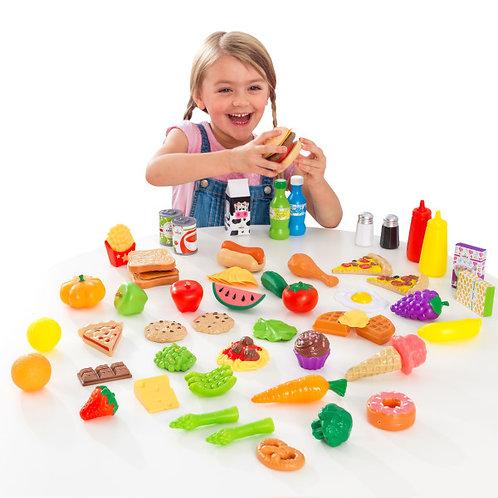 Σετ πλαστικών τροφίμων 65 τεμαχίων Κωδ.63510
