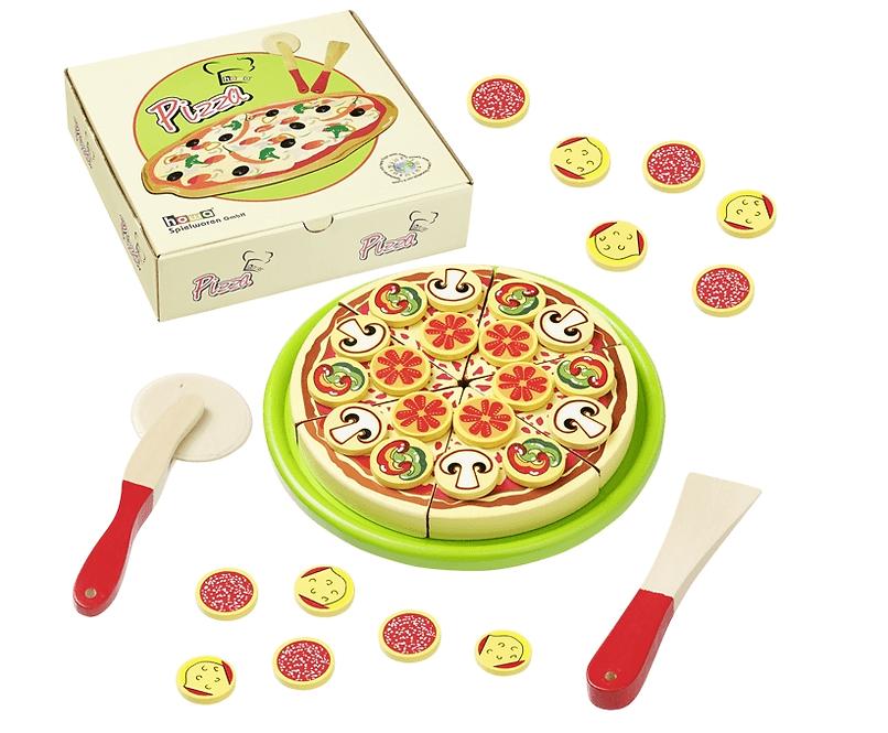 Ξύλινη πίτσα κοπής σε χάρτινο κουτί κωδ. 4870