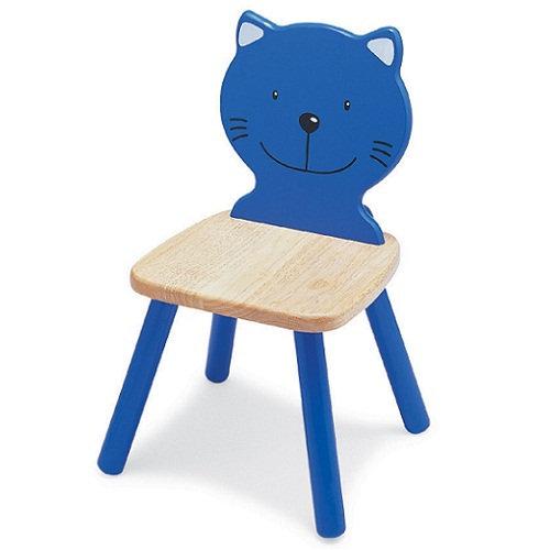 Καρέκλα παιδική Γάτα μπλέ  κωδ.T47186