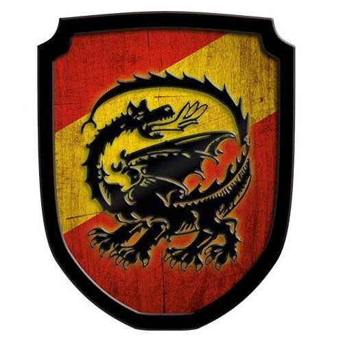 Ασπίδα Οικόσημο Δράκος κόκκινη Κωδικός:Τ335474