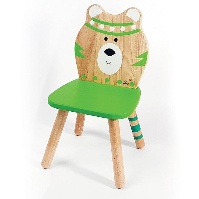 Παιδική Ξύλινη Καρέκλα 'Αρκουδάκι' Μασίφ Ξύλο Κωδ:Τ22003