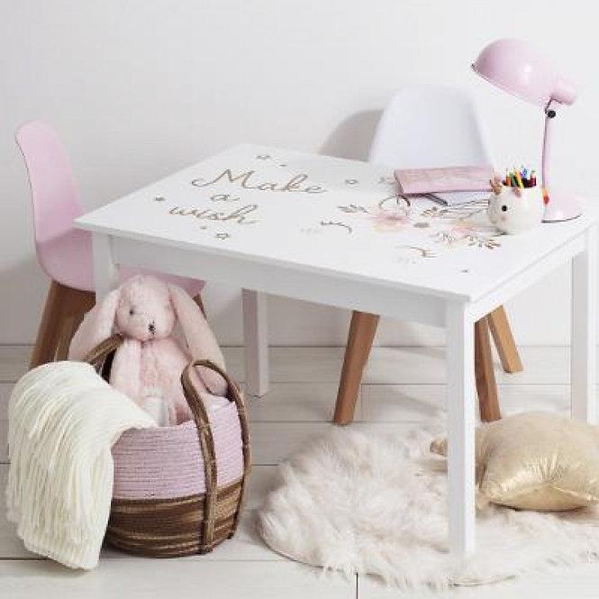 """Παιδικό Ξύλινο  τραπέζι  """" the girl """" κωδ.J158698"""