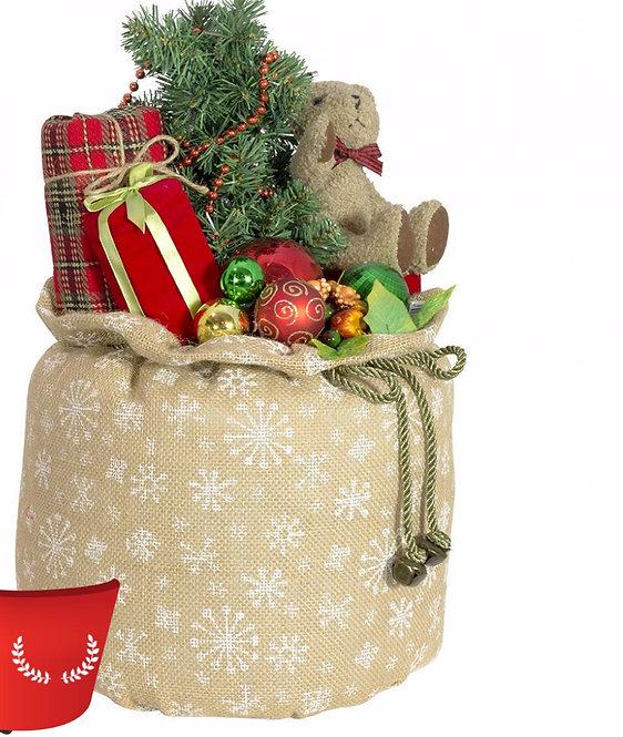Χριστουγεννιάτικος σάκος με φώς ,μουσική σέτ 3τεμ.50εκατ.κωδ.78247