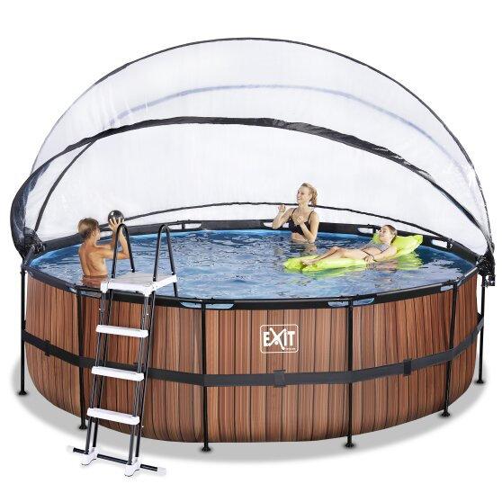 Πισίνα  Στρόγγυλη  με αντλία θερμότητας & σκέπαστρο  ø 530εκ  κωδ.EX30671510