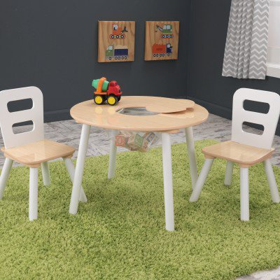 kidkraft Round Storage Table and Chair Set Κωδ.27027