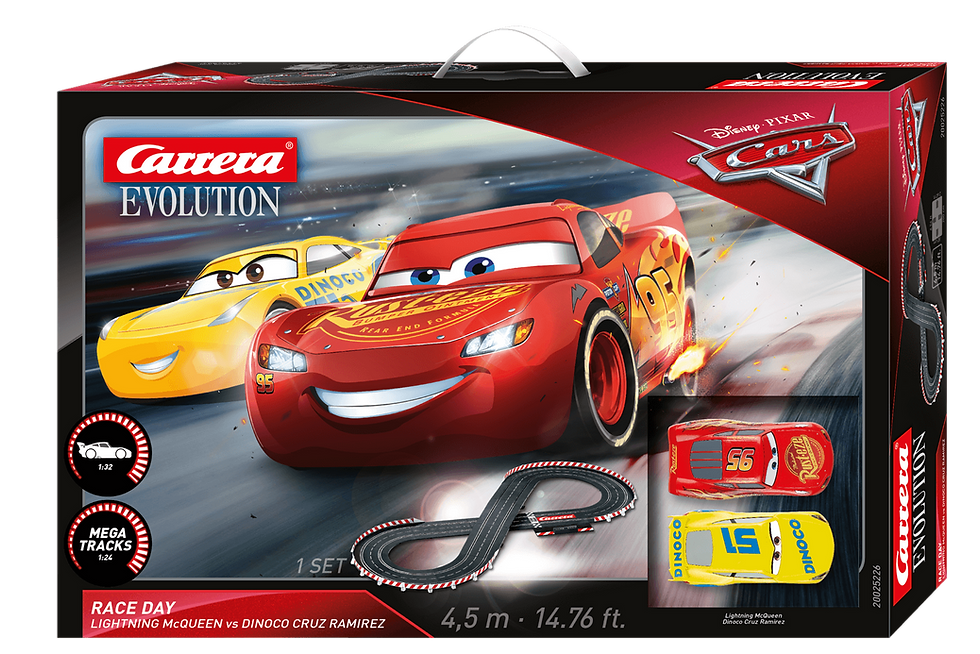 Carrera Evolution Slot 1:32 Disney Cars 3 -Race Day Lightning McQUEκωδ.C20023628