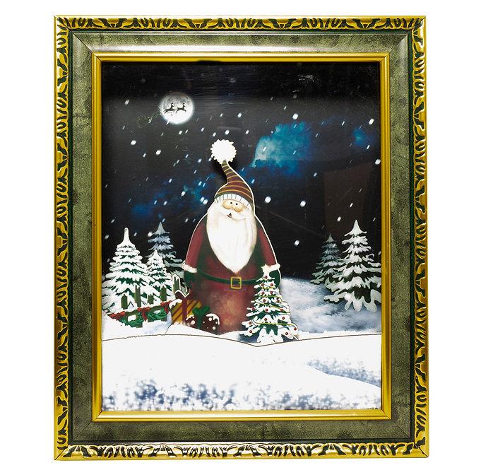 Πίνακας χιονίζε Χριστουγεννιάτικη διακόσμηση  46εκ. με μουσική κωδ.ZPM39294