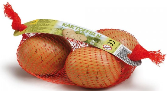 Ξύλινες πατάτες σε δίχτυ κωδ.12001