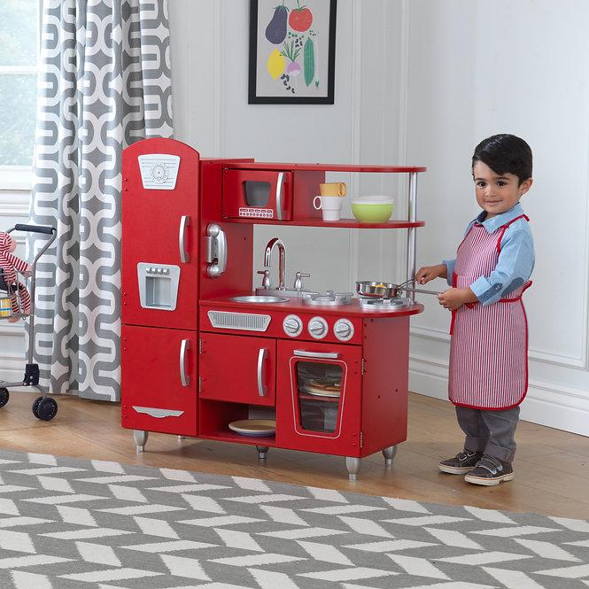 """Κουζίνα kidkraft """"Red Vintage"""" Κωδ.53173,παιδικες κουζινες,παιχνίδια,κουζίνα kidkraft"""