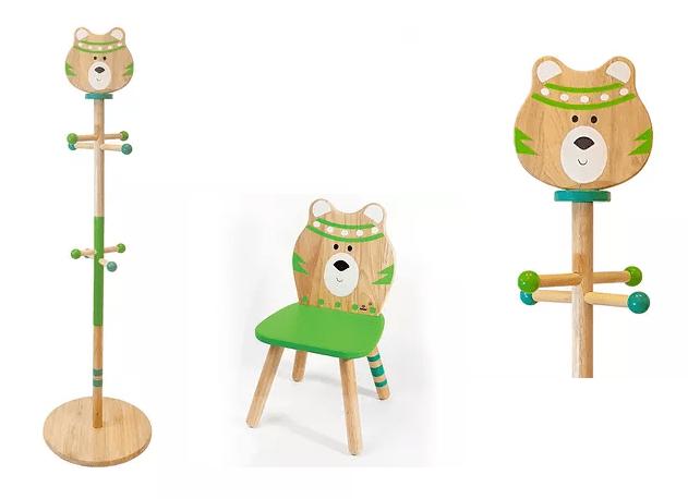 Σέτ «Αρκουδάκι»1 Ξύλινος Καλόγεροςμε1ΠαιδικήΚαρέκλα Κωδ:Τ220047