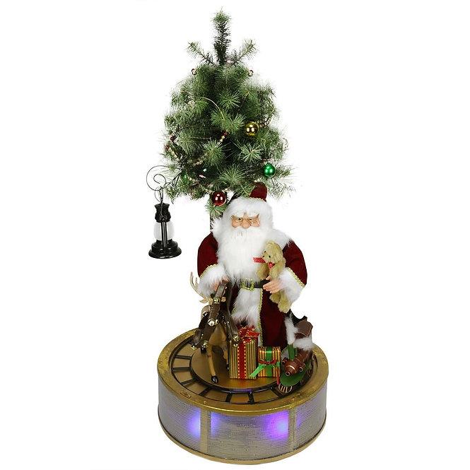Christmas Decor Αγ.Βασίλης  τρενάκι,μουσική,φώτα κωδ.S144003