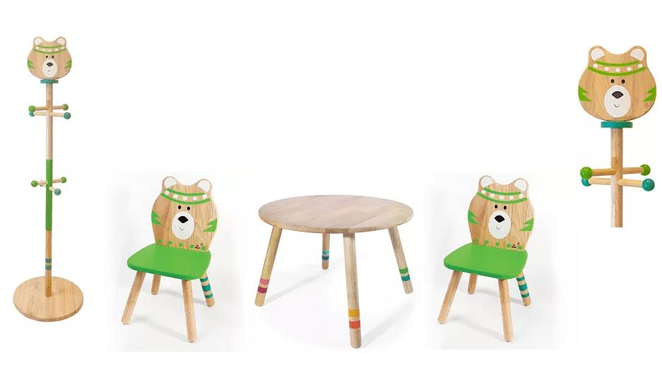 """Πλήρες Σέτ """"Αρκουδάκι""""Τραπεζάκι Καλόγερος & 2  Καρέκλες  Κωδ:Τ220142"""
