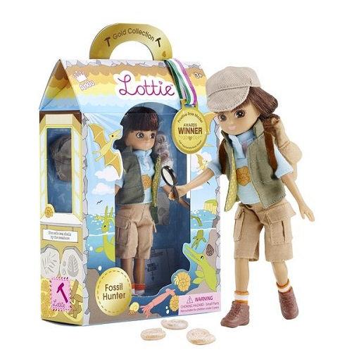 Κούκλα βινυλίου 'Εξερευνήτρια Απολιθωμάτων' 18εκ. Κωδ: 213133