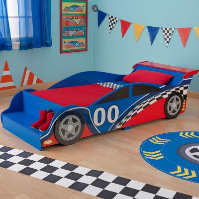 kidkraft Racecar Toddler Bed Κωδ.76038