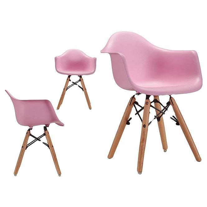 Παιδική Ξύλινη Ρόζ καρέκλα κωδ.A579451