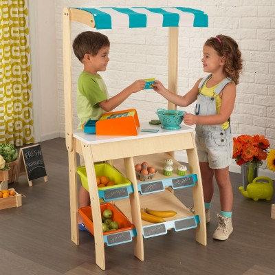 kidkraft Store Marketplace Κωδ.53017,παιδικά παιχνίδια,Παιχνίδι μαγαζάκι,Ξύλινο παιχνίδι μαγαζάκι