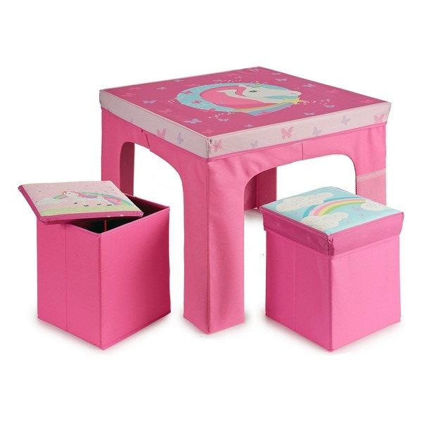 """Παιδικό Σέτ """"Τραπέζι Mονόκερος με 2 σκαμπώ"""" κωδ.A20233"""