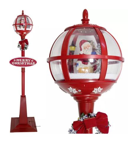 Χριστουγεννιάτικο Φανάρι που χιονίζει  175 εκ.  μουσική κωδ.ZPM37611