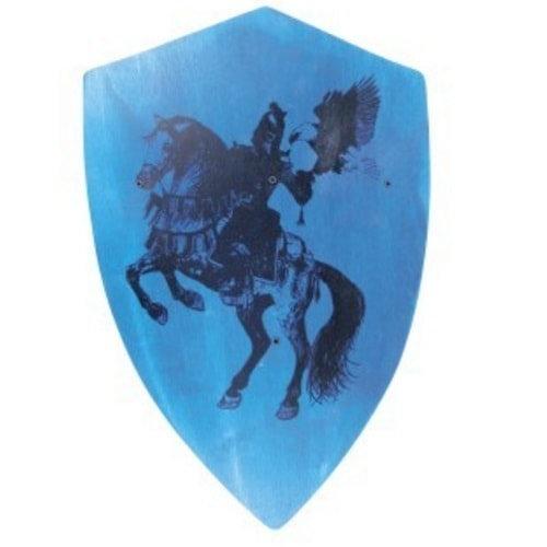 Ασπίδα ξύλινη μεγάλη ιππότης μπλε Κωδικός:Τ935010