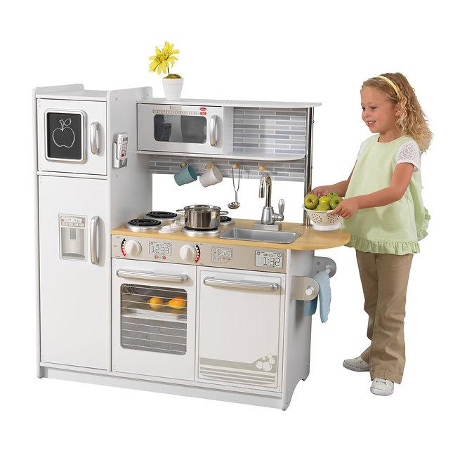Κουζίνα kidkraft Uptown White Kitchen - Tile Κωδ.53364, παιδικες κουζινες,παιχνίδια,κουζίνα kidkraft