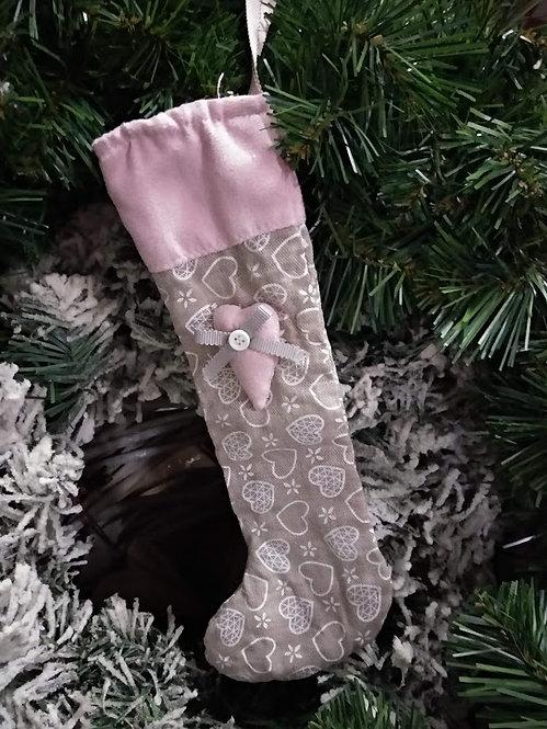 Χριστουγεννιάτικη διακοσμητική κάλτσα vintage κωδ:L658