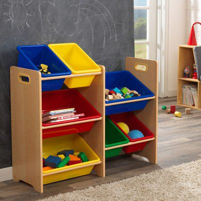 kidkraft 7 Bin Toy Storage Unit - Natural Κωδ.15470