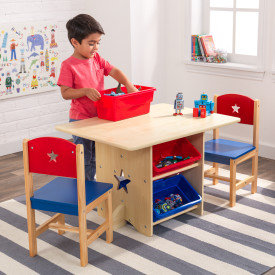 kidkraft Star Table & Chair Set With Primary Bins Κωδ.26912