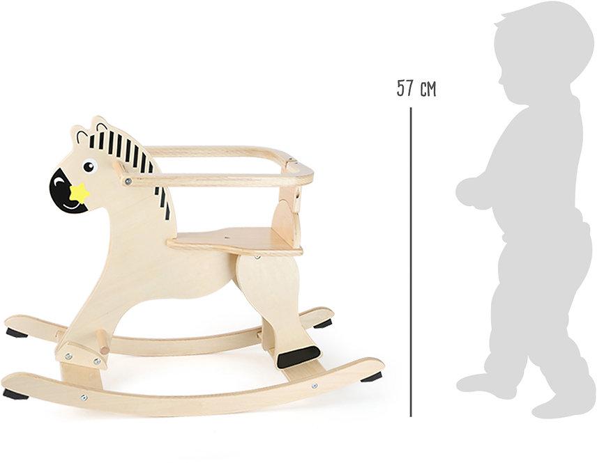 Κουνιστό  ξύλινο άλογο με προστατευτικό  κωδ:L10746