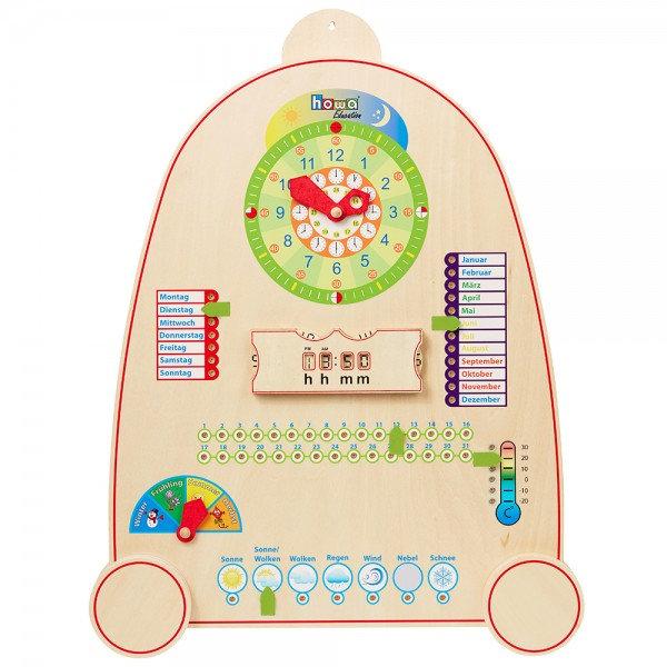 Εκπαιδευτικό ρολόι με ημερολόγιο κωδ:7500