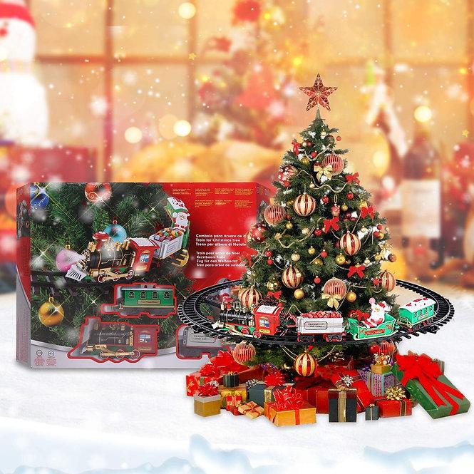 Χριστουγεννιάτικο τρενάκι δέντρου Αγ.Βασίλη κωδ.Α921